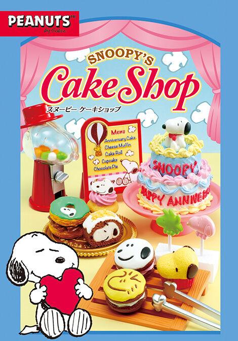 Re-Uomot Miniature Peanuts Snoopy Dessert Cake Shop Full set of 8 pcs