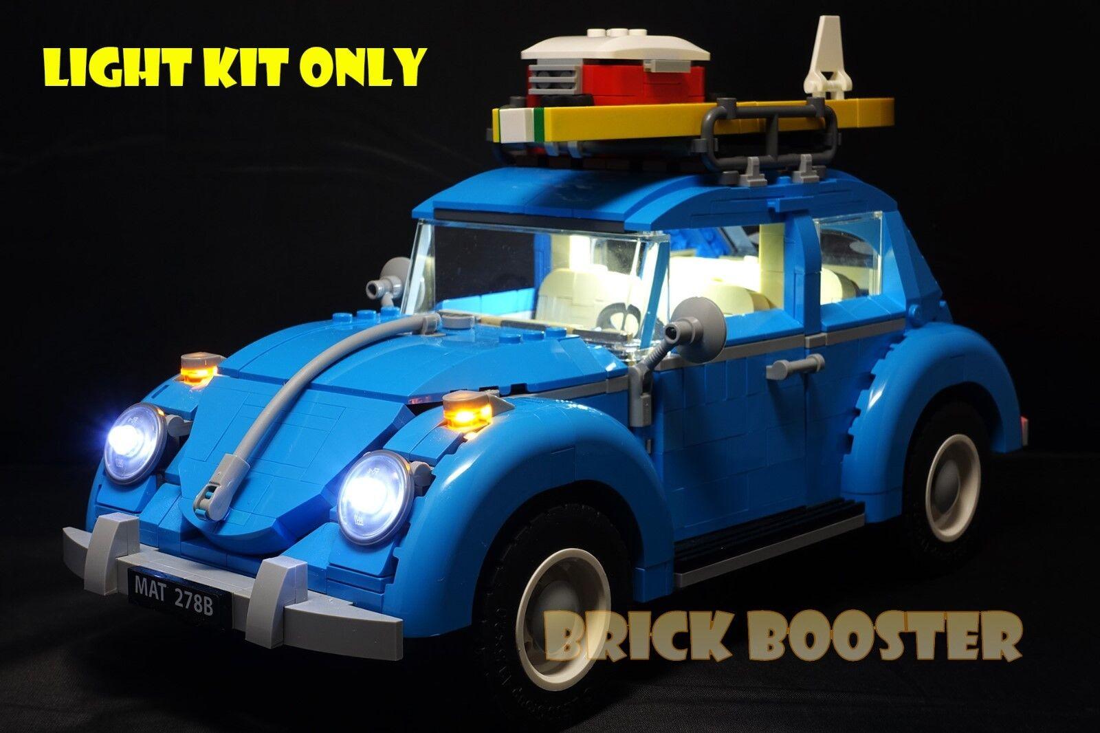 USB Powered LED Light Kit (White) for Lego 10252 Volkswagen Beetle