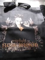 Edward Cullen Twilight Saga New Moon Black Fabric Printed Carry Tote Bag School