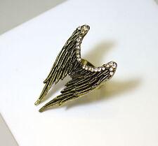 Bague réglable ailes d'ange avec strass , Vintage,rétro,