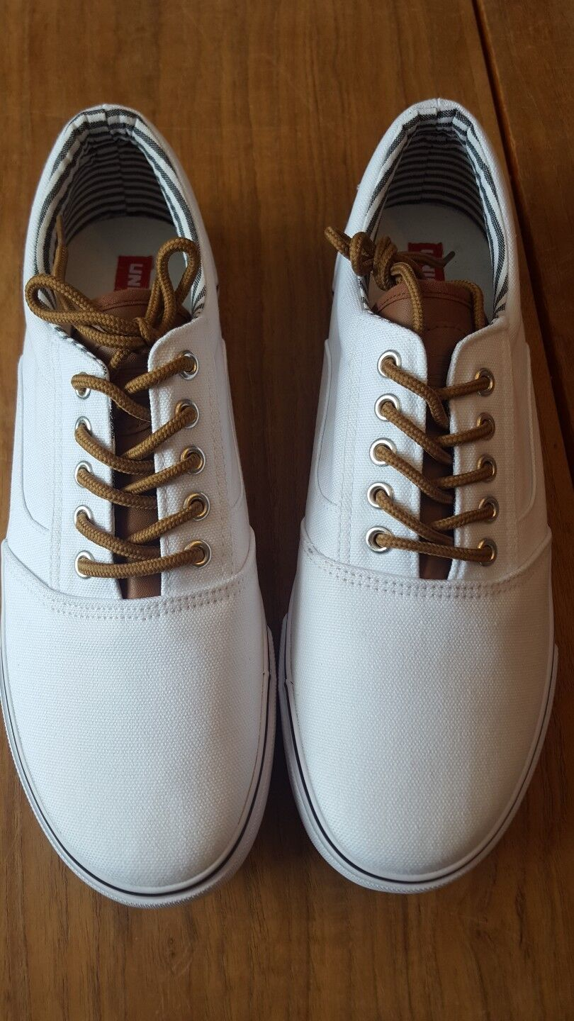 Mens Union Up Bay Oak Harbor Lace Up Union Sneakers White Size 8.5 New in Box af37d3