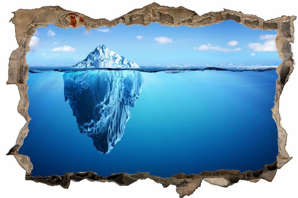 Dell'iceberg mare mirroring parete Tatuaggio Parete Adesivo Parete Adesivo d1344