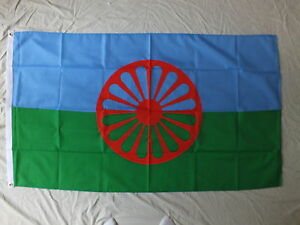 ROMA-Flag-1933-Gypsy-Romany-Romani-minorities-rights-Equality-Political-Demos-bn
