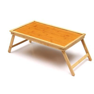 Tray Desk Wooden Breakfast Dinner Serving Tea Stands Bamboo Laptop Folding Table