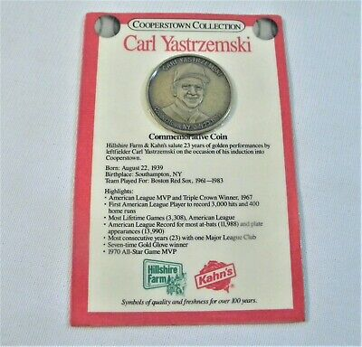 Cooperstown Collection Carl Yastrzemski Commemorative Bronze Coin 89 New Sealed Ebay