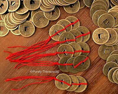 Feng Shui Good Luck Coins String Of 3 X 5 Wealth Prosperity Good Luck Chinese Ebay