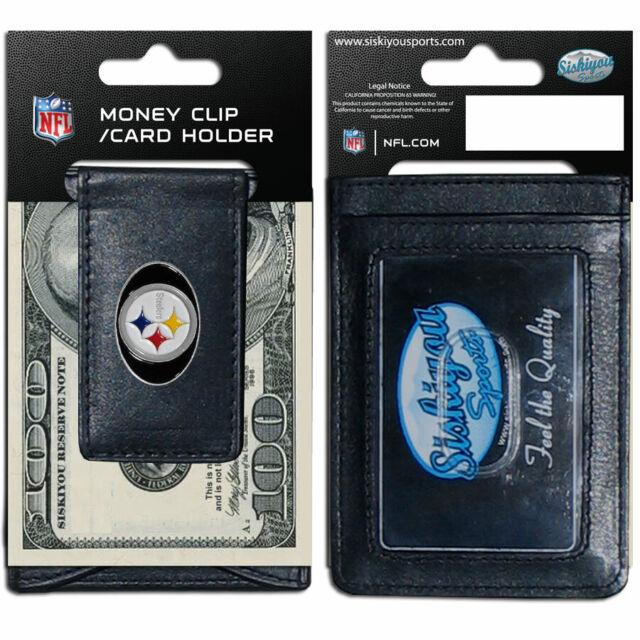 Siskiyou NFL Unisex Logo Leather Cash and Cardholder
