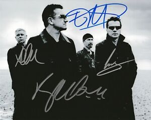Details about U2 Bono the Edge Adam Clayton Larry Mullen Jr autographed  8x10 photograph RP