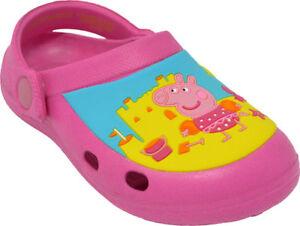 online store 36c9a 13fce Details zu FAB PEPPA PIG PINK CROCS BEACH SHOES SANDALS SIZES 5,6,7,8,9,10