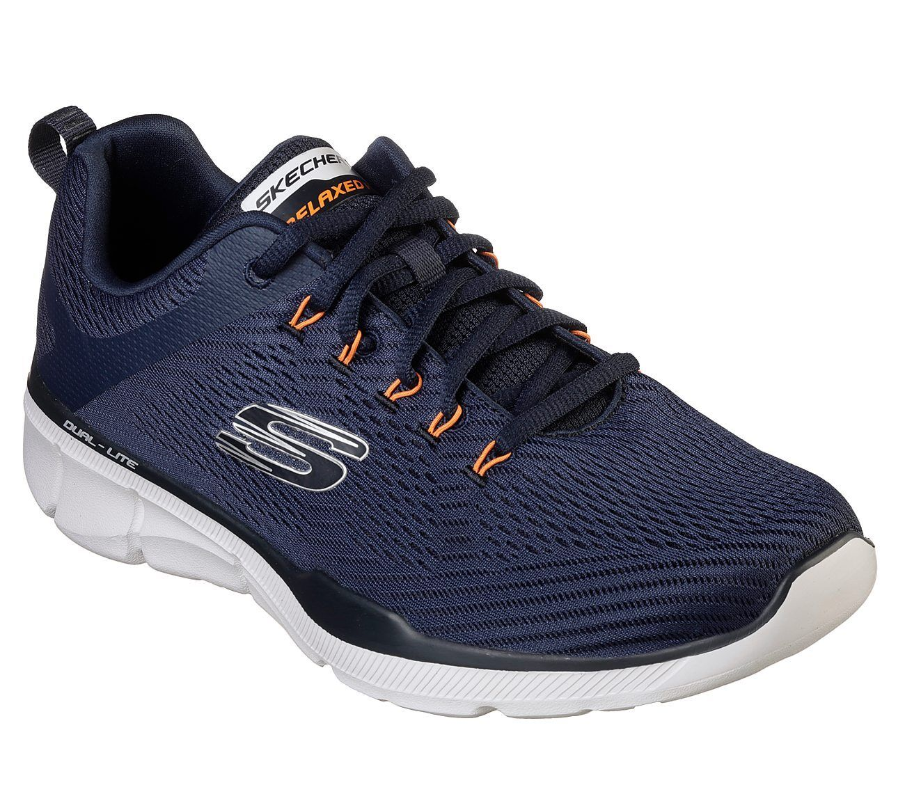 52927 Marina Naranja Skechers Zapatos Hombre Memoria Foam Malla tren Sport Comodidad