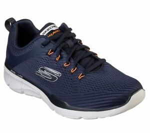 Extra Wide Navy Orange Skechers shoe