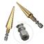 Utility Titanium Coated HSS Step Cone Drill Bit Wood Metal Cutter Hex Shank CA