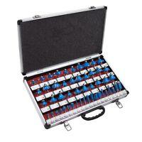 50 Pcs 1/4 Shank Tungsten Carbide Router Bit Set Woodworking Shop Routers Tool on sale