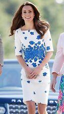 Sold Out New LK Bennett Dr LARA / LASA Blue Poppy Dress UK 12