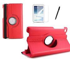 Hülle f Asus f Google Nexus 7 2013 2 Tasche Case  Tablet  Leder-Imitat rot red