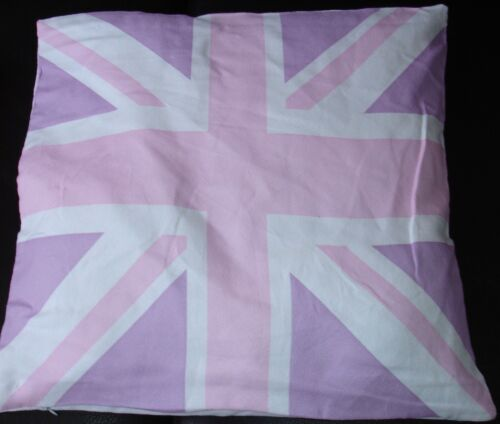 Set Of 4 Union Jack Pink cushion covers Free P/&P Only £6.99 set lovely