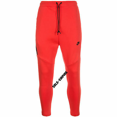 Nike Tech Fleece Cropped Pants Mens 727355-696 Tapered NEW Light Crimson  Black