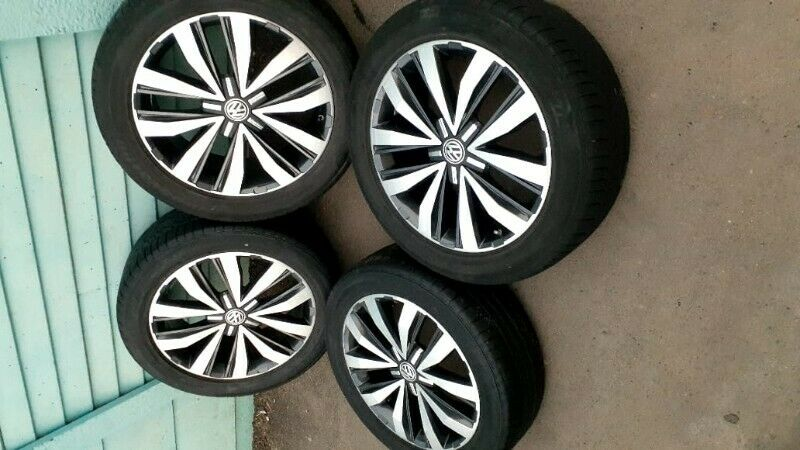 """20"""" VW Amarok original mags with new tyres set for R32500."""