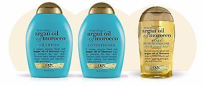 TRIO Organix Argan Oil Of Morocco Renew.Shampoo+Conditioner+Extra PenetratingOil