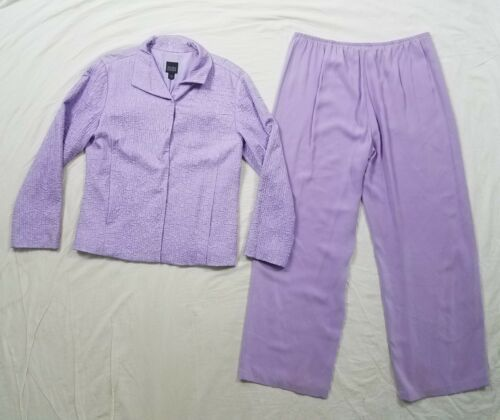 Eileen Fisher Womens Lilac Purple Silk Pant Suit B