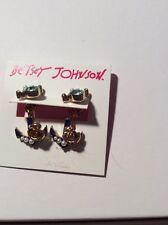 $28 BETSEY JOHNSON Anchors Away Heart Anchor Earring Jackets BL40