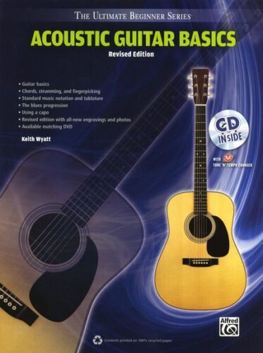 Ultimate Beginner Series Acoustic Guitar Basics Learn to Play EASY Music Book CD