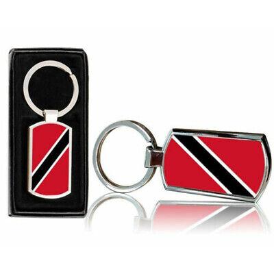 Trinidad /& Tobago Country Shape Flag Metal Keychain . New