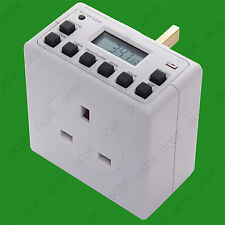 1x Digital Mains Programmable LCD Plug Through Timer Switch, 12 / 24 Hour 7 Day