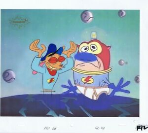 Ren-Stimpy-Original-Production-Cel-Ren-Cell-COA-Season-1-Spumco-Black-Hole-90s