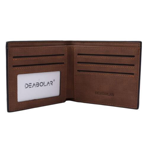 Men/'s  Magic Lether Wallet Slim Money Clip ID Credit Card Holder Wallet CH