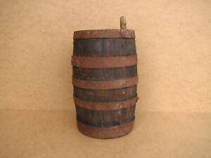 Old-Antique-Primitive-Wooden-Wood-Barrel-Vessel-Keg-Farmhouse-Rustic-Early-20th