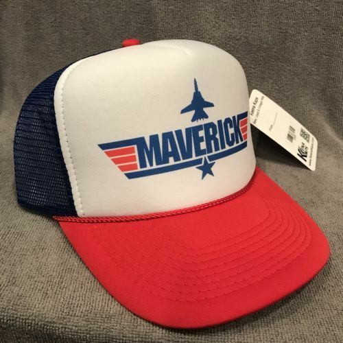 Top Gun Maverick Cappello Camionista Vintage Film Promo Snapback Navy 2305