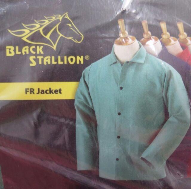 Green FR Cotton Welding Jacket Revco Black Stallion F9-30C 36 9oz X-Large