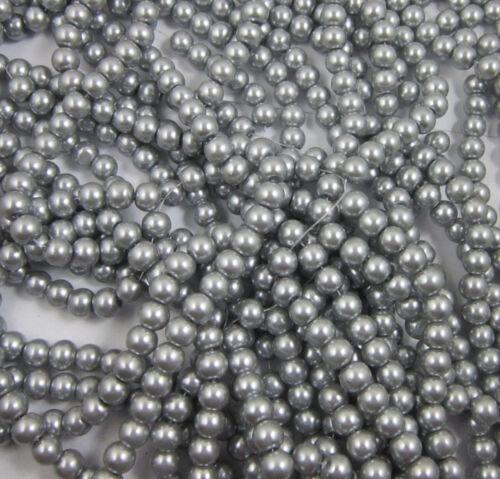 4//6//8//10mm Glaswachsperlen Rund vers Farben /& Größen zur Auswahl Wachsperlen il