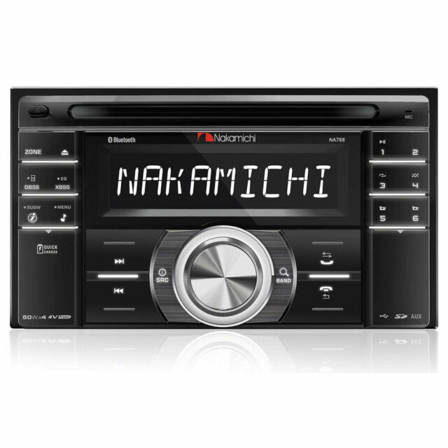 NAKAMICHI NA788 DOUBLE DIN CD RECEIVER W/ AM/FM RADIO TUNER & BLUETOOTH BT NEW