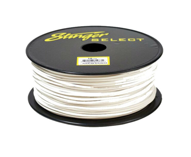 Stinger 18 Gauge White 500 FT Spool OFC Copper Primary Wire Cable Audio  SSPW18WH
