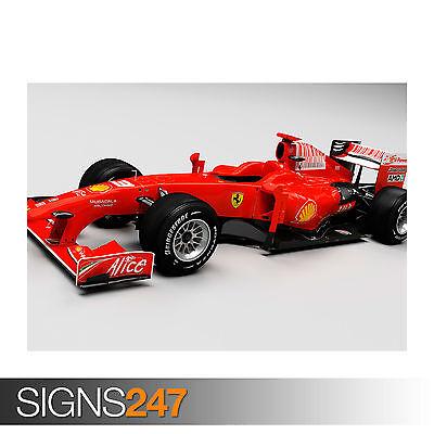Ferrari F1 Formula One Framed CANVAS Art PRINT A0 A1 A2 A3 A4 Sizes