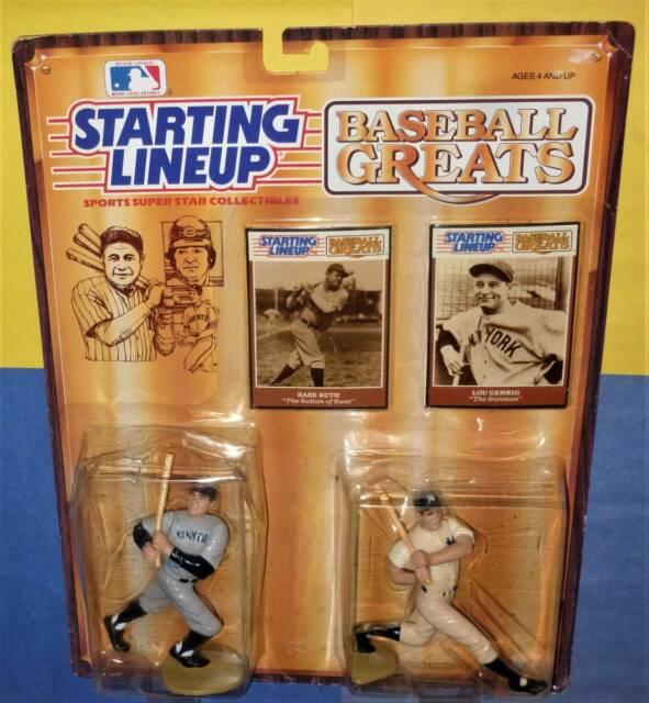 1989 LOU GEHRIG BABE RUTH New York Yankees Baseball Greats 0_s/h Starting Lineup