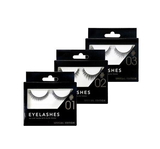 discontinued OLIVE YOUNG EYELASHES korean false fake eyelash makeup oliveyoung