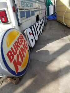 """Large lighted Authentic"""" Burger King """" 17"""" long and 32"""" tall"""