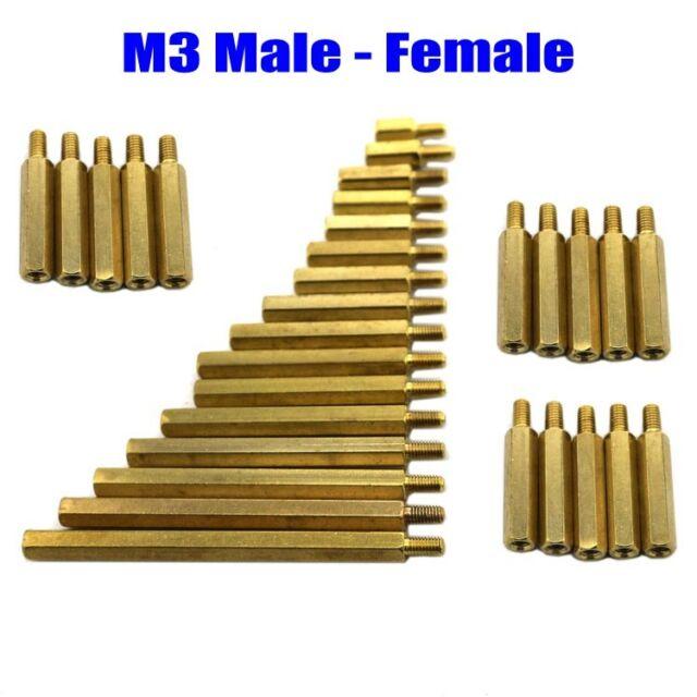M2 M3 M4 Male-Female & Female-Female Hex Brass Spacer & Screw Nut