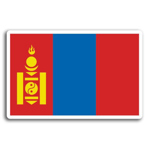 Sticker Laptop Luggage #19552 2 x 10cm Mongolia Flag Travel Vinyl Stickers