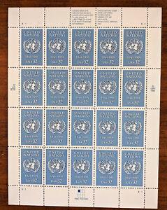 #2974 – U. N. 50th anniversary - Full Sheet 20 Stamps - United Nations 1995 32c