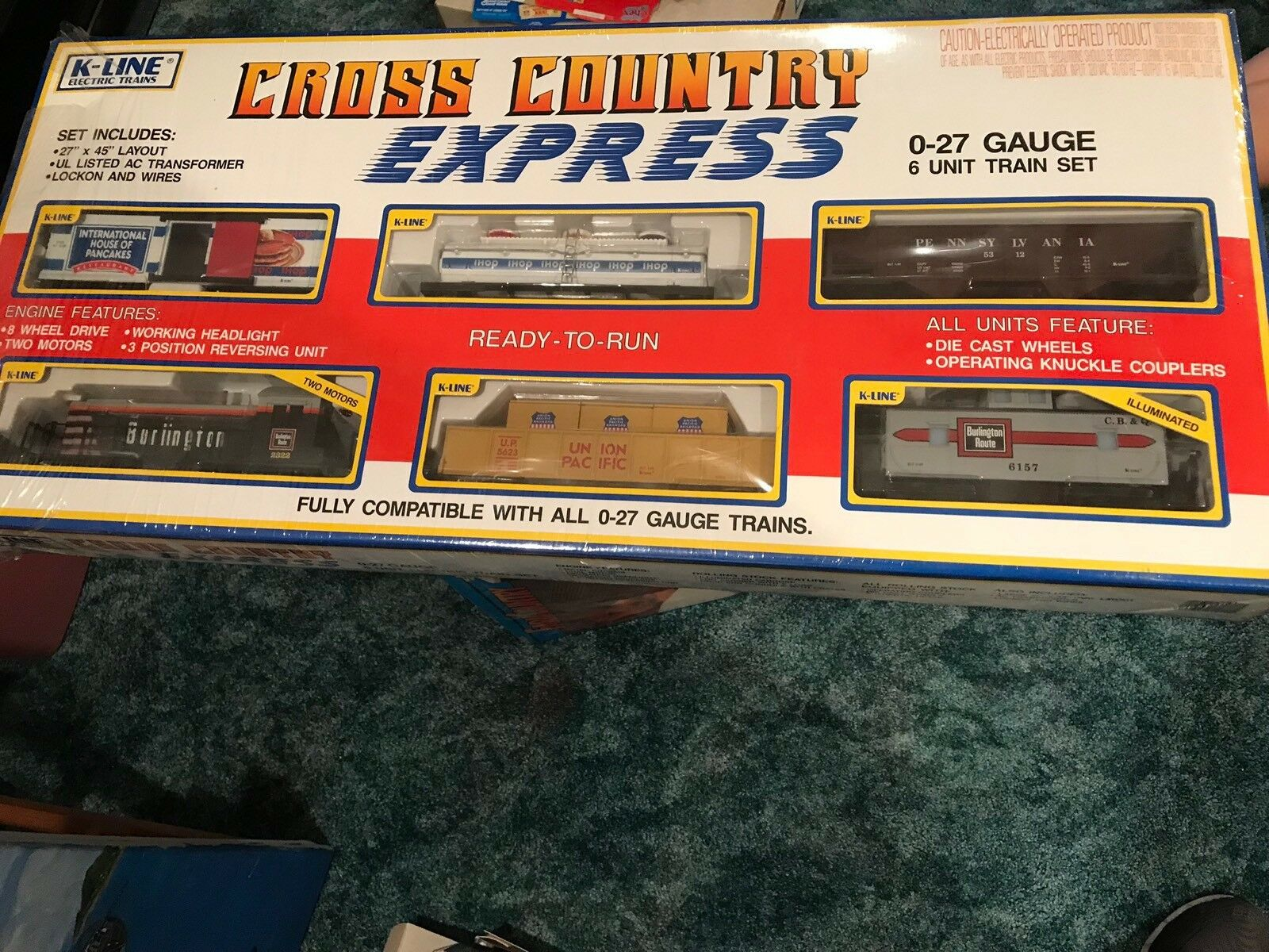 K-Line Cross Country Express Train Set 0-27