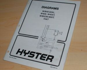 HYSTER Forklift Electrical Wiring Diagram Schematic service Manual repair  shop w | eBay | Hyster Wiring Diagrams |  | eBay