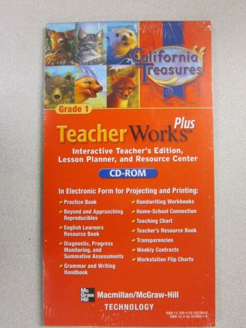California Treasures Grade 1 Teacher Works Plus Cd Rom Macmillan 0022033661