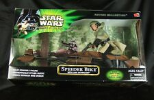 "STAR WARS POWER OF THE JEDI 12"" INCH SPEEDER BIKE with LUKE SKYWALKER SEALED!!"