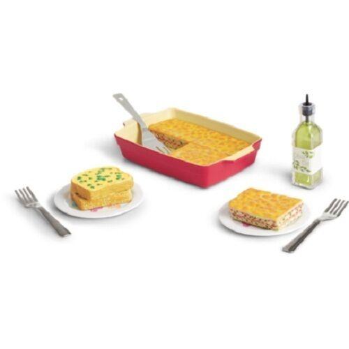 Milkshake SET American Girl Doll 3 FOOD Sets WAFFLE BREAKFAST Lasagna Dinner