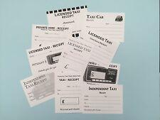 50 x licenza LONDON TAXI incassi vuoto per l'imposta / spese - 10 disegni differenti