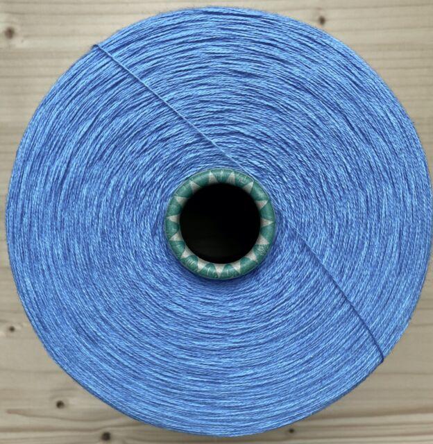 Modal Polyacryl • FROZEN BLUE • NM40//2 •Strickmaschine Garn häkeln Kone Feat N14